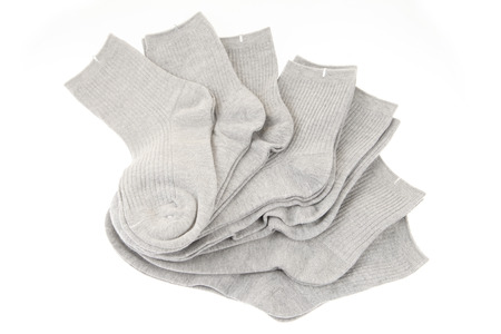 Socks on a white background