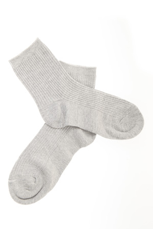 Socks on a white background