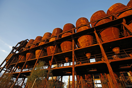 Abandoned industrial factory equipment