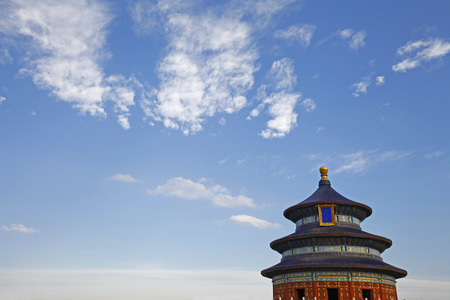 temple of heaven: The ancient temple of heaven in Beijing, China