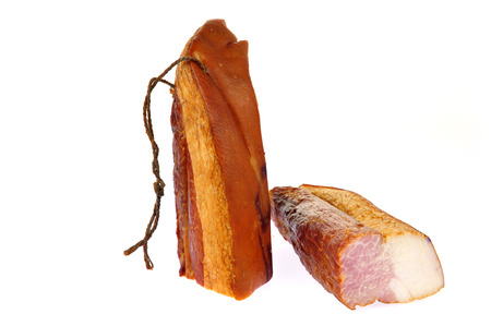 Bacon isolated on a white background Stock Photo