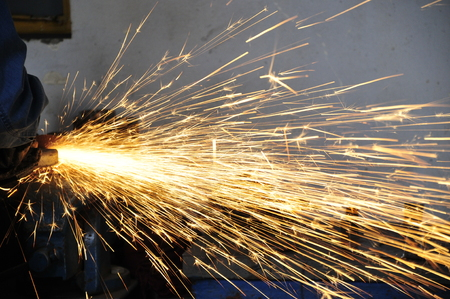 Smelting industry sparks Stock Photo