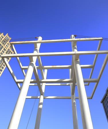 Modern concrete structure building