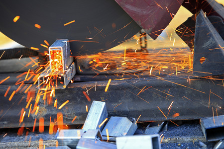 Smelting industry sparks Stock Photo