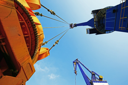 Port crane work Stockfoto