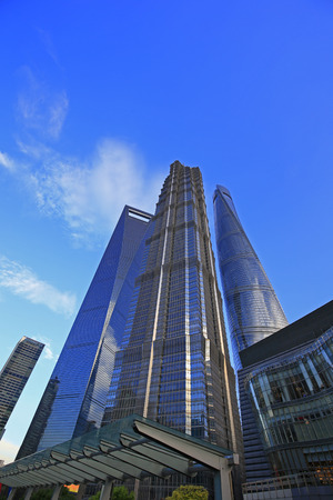 Office building of Shanghai in China Editorial