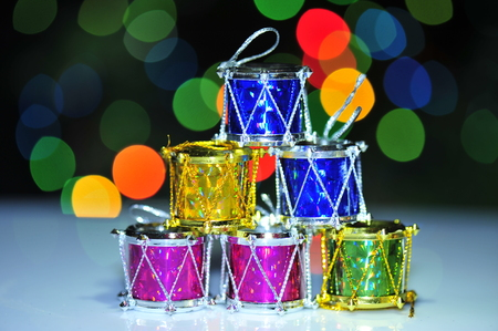 Christmas gifts and abstract background light Stock Photo