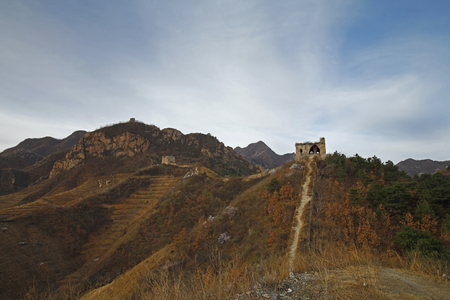 Landscape scenery view of a fortress