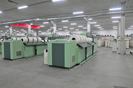 Cotton group in spinning production line factory
