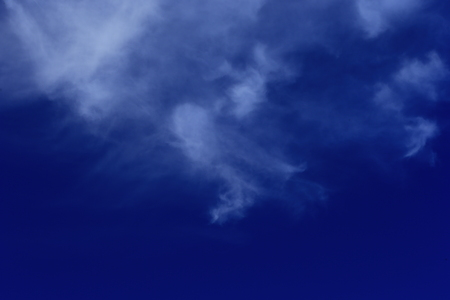 The blue sky and white clouds