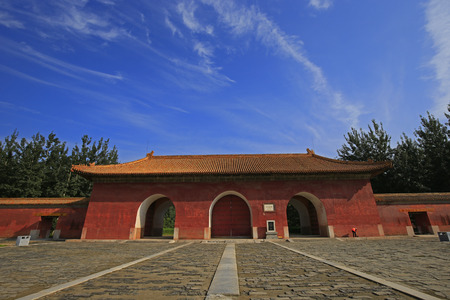 Landscape view of an ancient architectural building in China