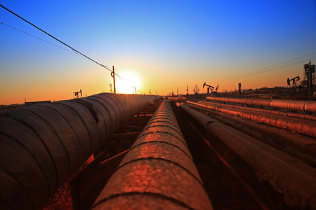 Oil pipeline, industrial equipment