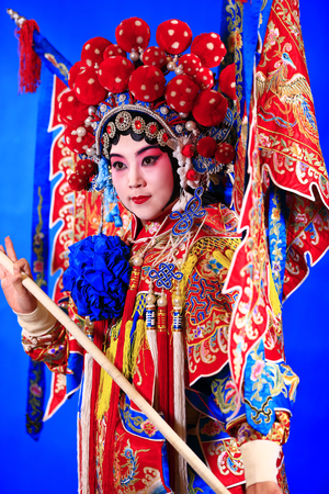 Tangshan , February 3: Peking Opera troupe of actors on February 3, 2018, in tangshan city, hebei province, China. Éditoriale