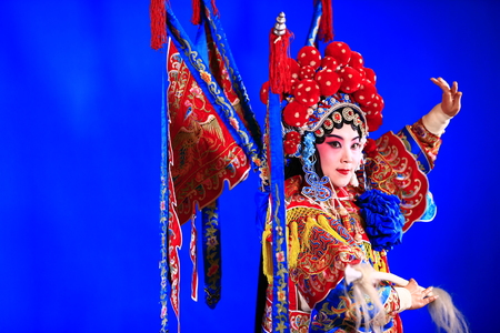 Tangshan , February 3: Peking Opera troupe of actors on February 3, 2018, in tangshan city, hebei province, China.