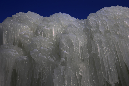 Ice waterfall, natural landscape in winter