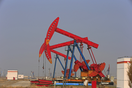 The oil pump, industrial equipment Stock Photo