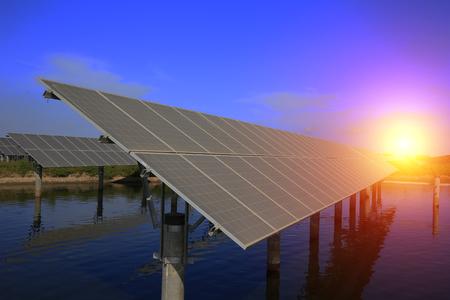 Solar panels Banco de Imagens