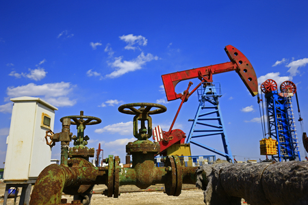 The oil pump industrial equipment Stock Photo