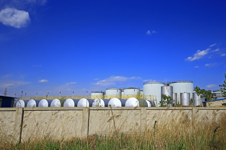 Oil storage tank industrial equipment Editorial