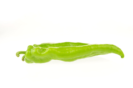 Isolated in the white background of green pepper