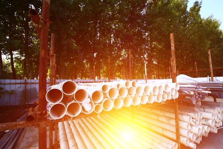 Plastic pipes, industrial equipment