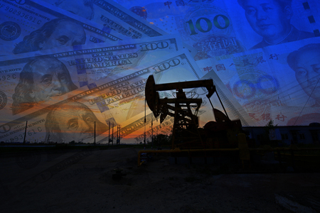 The oil pump, the dollar and the yuan as the background, the world's economic and financial.