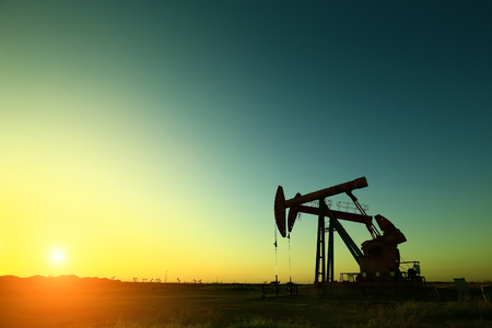 The oil pump, industrial equipment Standard-Bild - 116592670