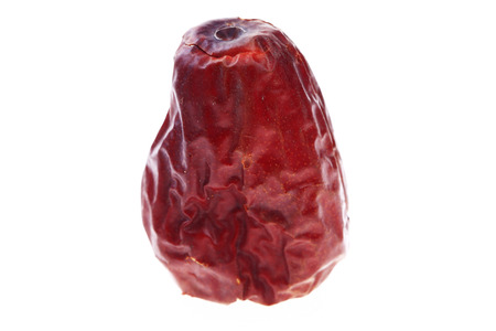 Red date on a white background