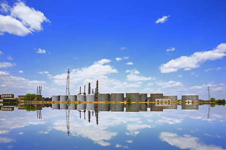 The oil tank Stock Photo