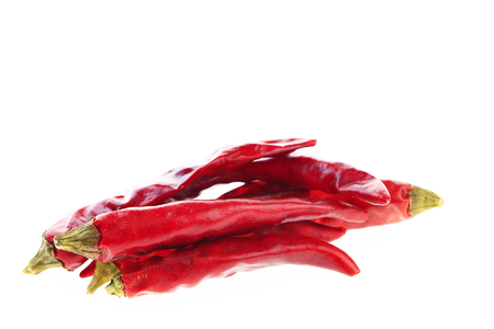 Isolated in the white background of red pepper