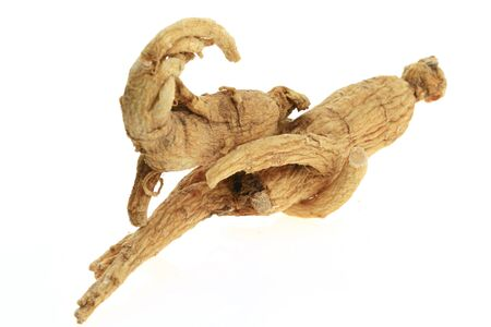 Ginseng on a white background