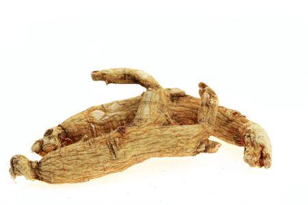 Ginseng on a white background Zdjęcie Seryjne