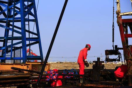 oil workers are working