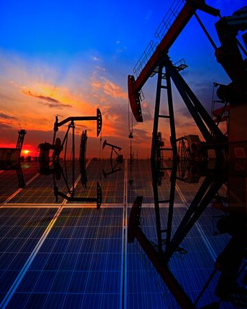 Oil pump with solar panels