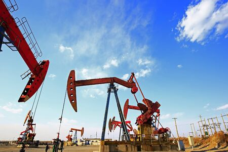 The oil pump, industrial equipment Reklamní fotografie