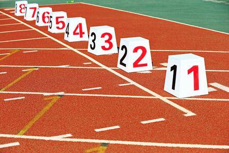 Track and field digital Stockfoto