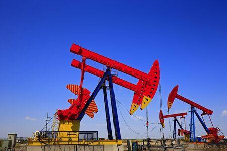 The oil pump, industrial equipment Stockfoto