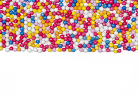 sprinkle: Colorful candy frame, sugar sprinkle dots