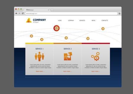 web site design template: Business web site template design