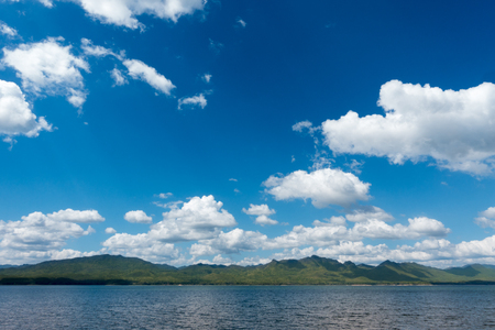 catchment: Lake and sky in summerin Thailand.