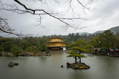 pavillion: GOLDEN PAVILLION on a rainy heavy day, Kinkakuji