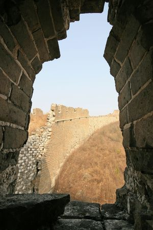 Bothriochloa Tongkuangyu the original ecological Great Wall Reklamní fotografie - 4320793