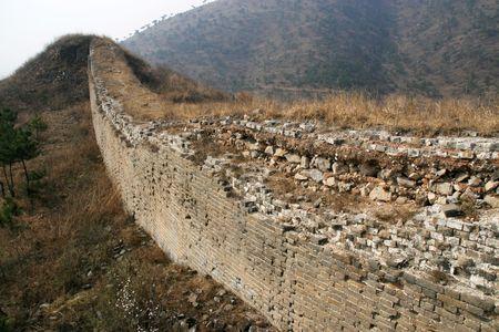 Bothchloa Tongkuangyu the original ecological Great Wall Stock Photo - 4320802