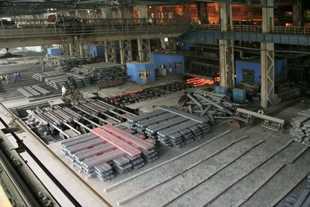 iron and steel production scene
