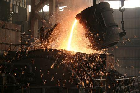 Eisen-und Stahlproduktion Szene Standard-Bild - 4816069