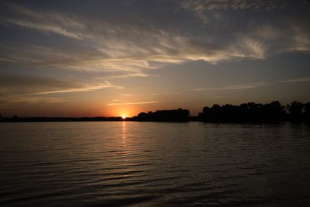 evening river scenery photo