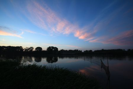 evening river scenery photo