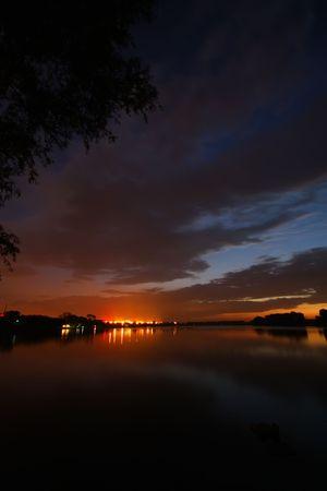 river night scenery in north china photo