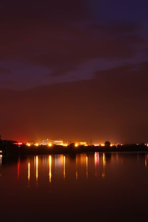 river night scenery in north china photo