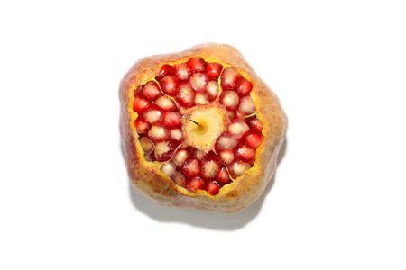 close up of pomegranate fruit pulp photo